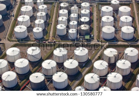 Oil storage drums - stock photo