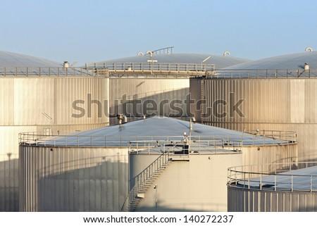 Oil Storage Tanks - stock photo