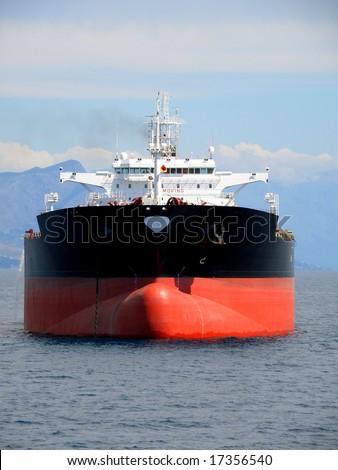 Oil supertanker - stock photo