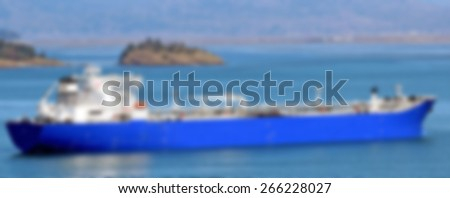 Oil Tanker Blurred background Image - stock photo