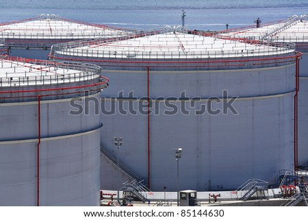 Oil Tanks - stock photo