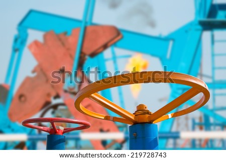 Oil Valves - stock photo