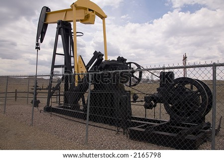 Oil well in western Colorado - stock photo