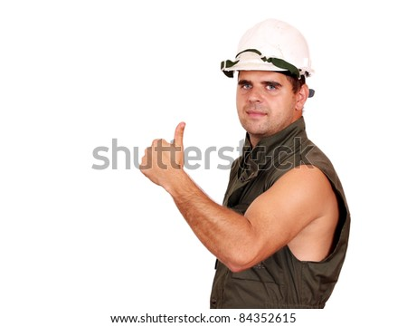 oil worker success - stock photo