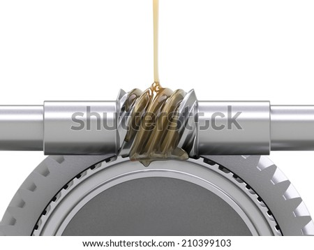 Oiling Gears - stock photo