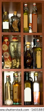 Oils in the kitchen - stock photo