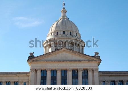 Oklahoma Capitol Building in Oklahoma City - stock photo