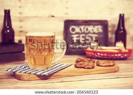 Oktoberfest Beer - stock photo