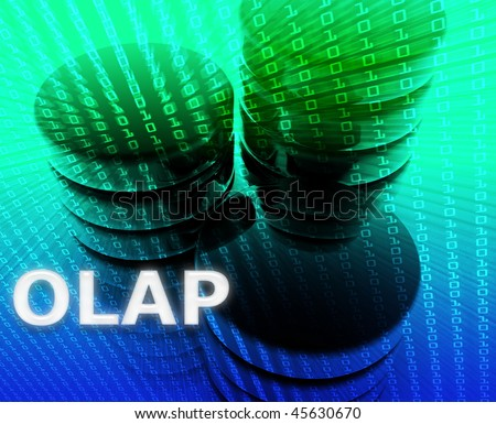 OLAP data abstract, computer technology information concept illustration - stock photo