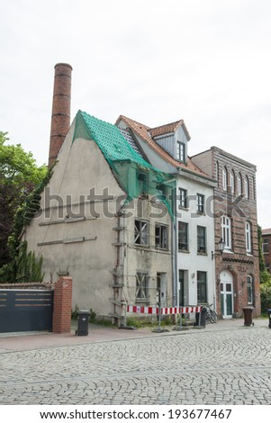 old abanded house in germany - stock photo