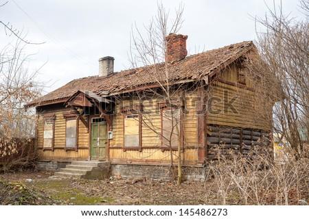 Old abandoned house. Tallinn, Estonia - stock photo