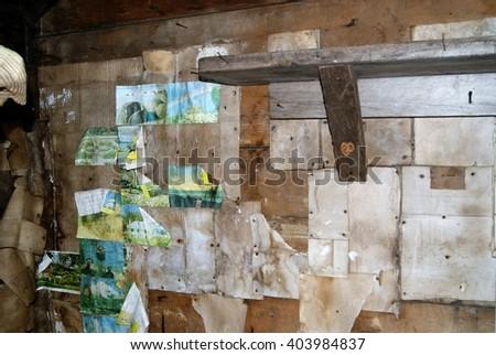 Old abandoned interior - stock photo