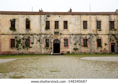 old abandoned prison of Sinop, Turkey - stock photo