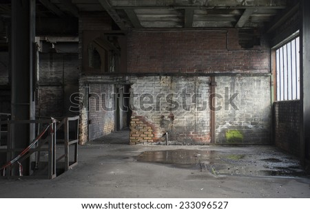 old abandoned room in factory in germany - stock photo