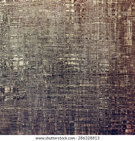 Old abstract grunge background, aged retro texture. With different color patterns: brown; gray; black - stock photo