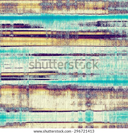 Old abstract grunge background, aged retro texture. With different color patterns: yellow (beige); brown; blue; purple (violet) - stock photo