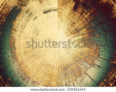 Old abstract grunge background, aged retro texture. With different color patterns: yellow (beige); brown; gray; green - stock photo