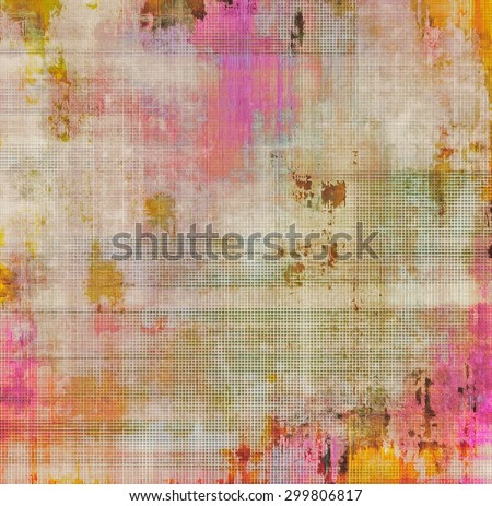 Old abstract grunge background for creative designed textures. With different color patterns: yellow (beige); brown; pink; red (orange) - stock photo