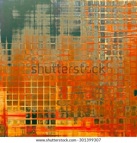 Old abstract grunge background for creative designed textures. With different color patterns: yellow (beige); brown; green; red (orange) - stock photo