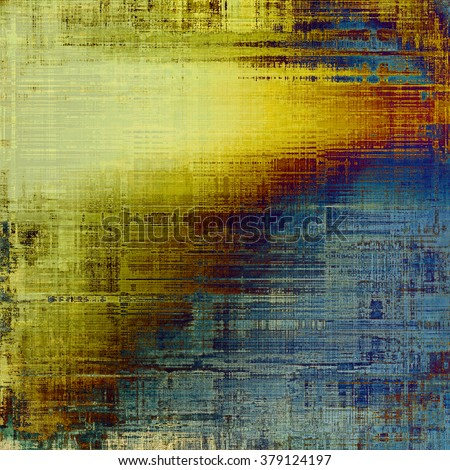 Old abstract grunge background for creative designed textures. With different color patterns: yellow (beige); brown; blue; cyan; red (orange) - stock photo