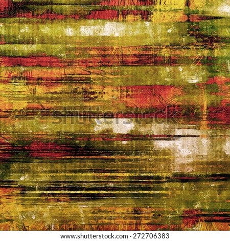 Old abstract texture with grunge stains. With different color patterns: yellow (beige); brown; green; pink - stock photo