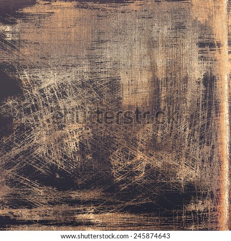 Old abstract texture with grunge stains. With different color patterns: yellow (beige); brown; gray; black - stock photo