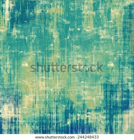 Old abstract texture with grunge stains. With different color patterns: yellow (beige); green; blue; cyan - stock photo
