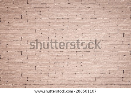 Old aged rough brick wall texture background painted in red brown color tone in grunge style : Blank masonry wall textured backdrop in light red brown colour  - stock photo