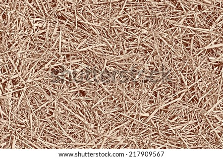 Old aged straw texture background after Summer harvest in rural England - stock photo
