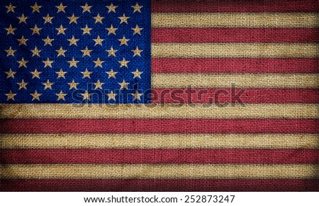 Old American flag background - stock photo