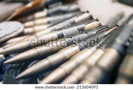 Old ammunition from second world war. Normandy, France. - stock photo