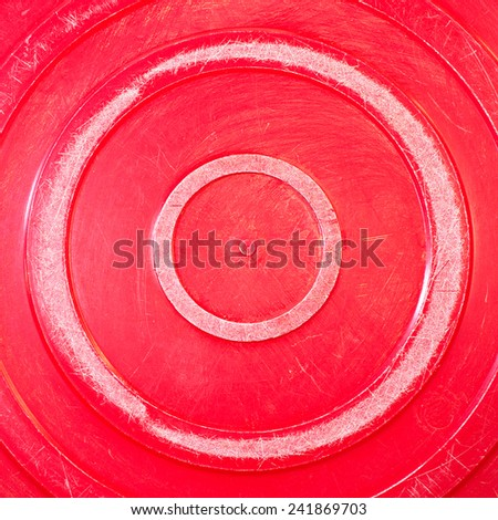Old anal plastic basin wash object background. - stock photo