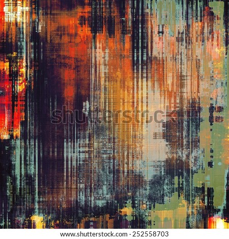 Old ancient texture, may be used as abstract grunge background. With different color patterns: yellow (beige); green; blue; red (orange); black - stock photo