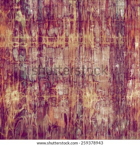 Old ancient texture, may be used as abstract grunge background. With different color patterns: yellow (beige); purple (violet); red (orange); pink - stock photo