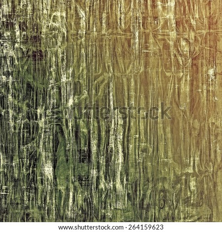 Old ancient texture, may be used as abstract grunge background. With different color patterns: yellow (beige); brown; gray; green - stock photo
