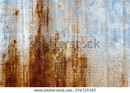 Old and Rusted decay metalsheet wall - stock photo