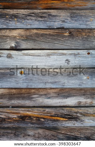 Old and rustic weathered wood texture - stock photo