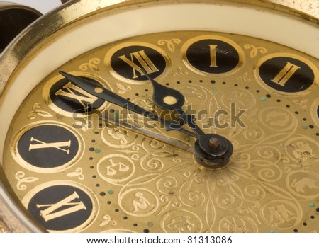 Old antique clock - stock photo