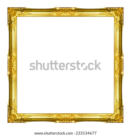 Old Antique Frame  Isolated On White Background - stock photo
