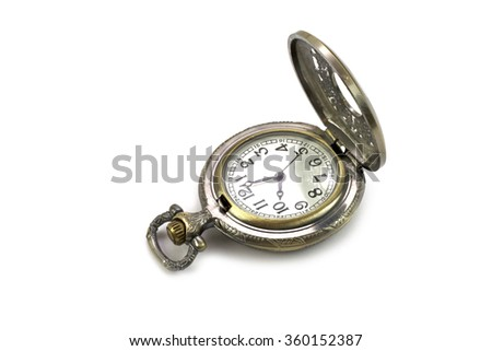 Old antique pocket watch - stock photo