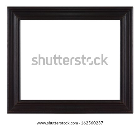 Old antique Purple picture frame wall, wallpaper, decorative objects isolated white background. - stock photo