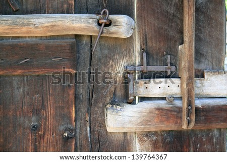 Old antique system of protecting real estate - stock photo