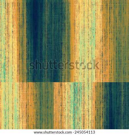 Old antique texture (for background). With different color patterns: yellow (beige); brown; blue; cyan - stock photo