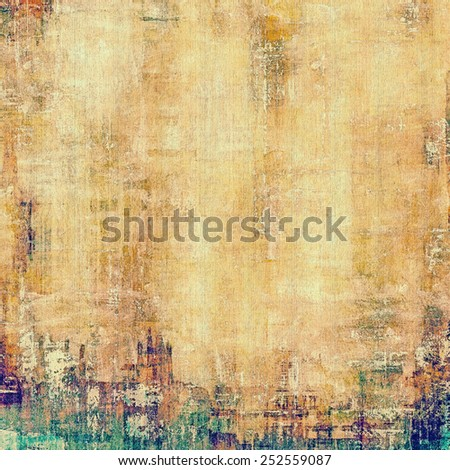 Old antique texture (for background). With different color patterns: yellow (beige); brown; green; cyan - stock photo