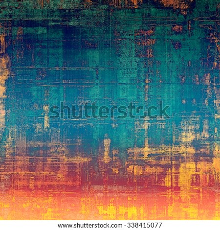 Old antique texture - perfect background with space for your text or image. With different color patterns: yellow (beige); red (orange); blue; pink - stock photo