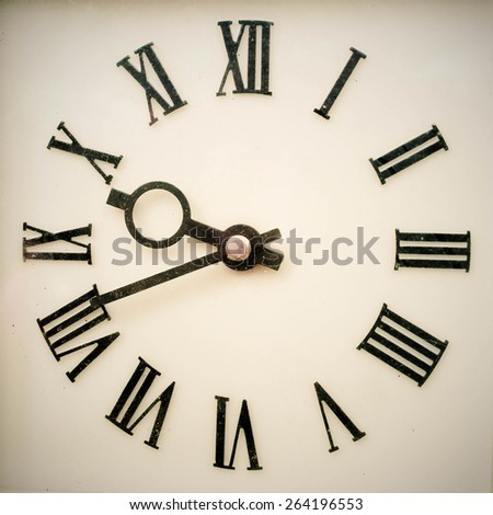 Old antique wall clock  - stock photo