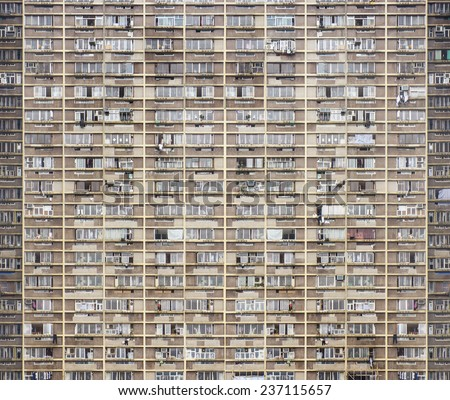 Old apartment building pattern background. - stock photo