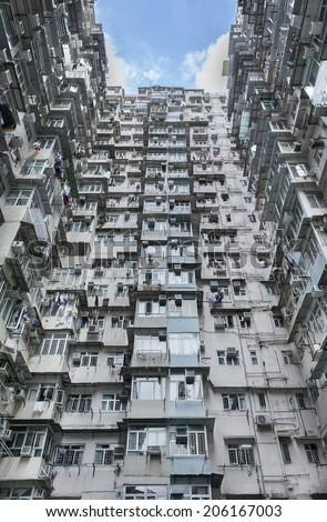 Old apartment in Hong Kong  - stock photo