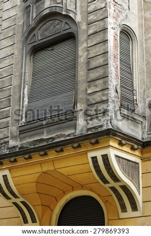 Old architectural detail in Arad, Romania - stock photo