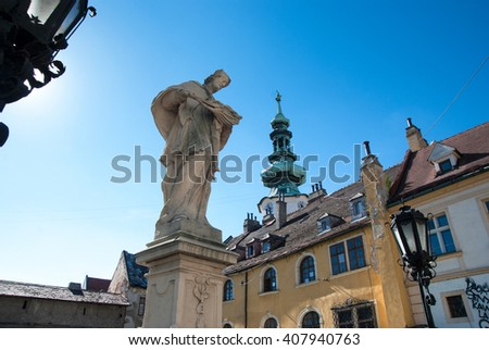 Old architecture in Europe - stock photo